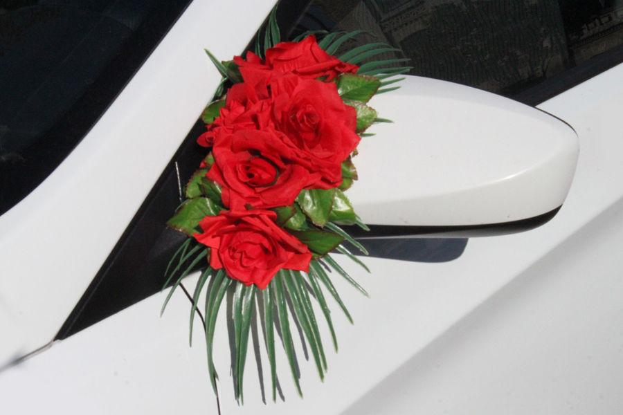 Украшение на зеркала Красные розы