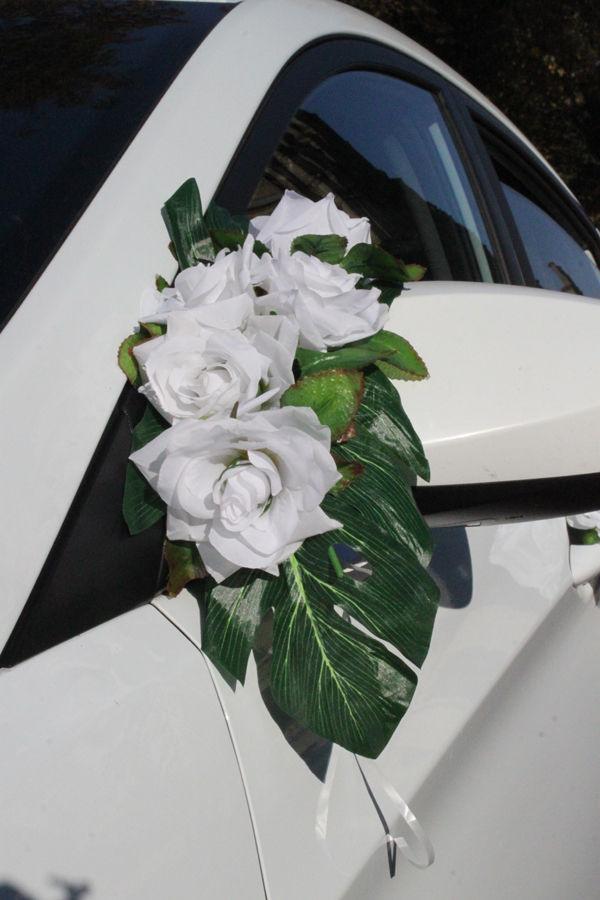 Украшения на зеркала Белые розы
