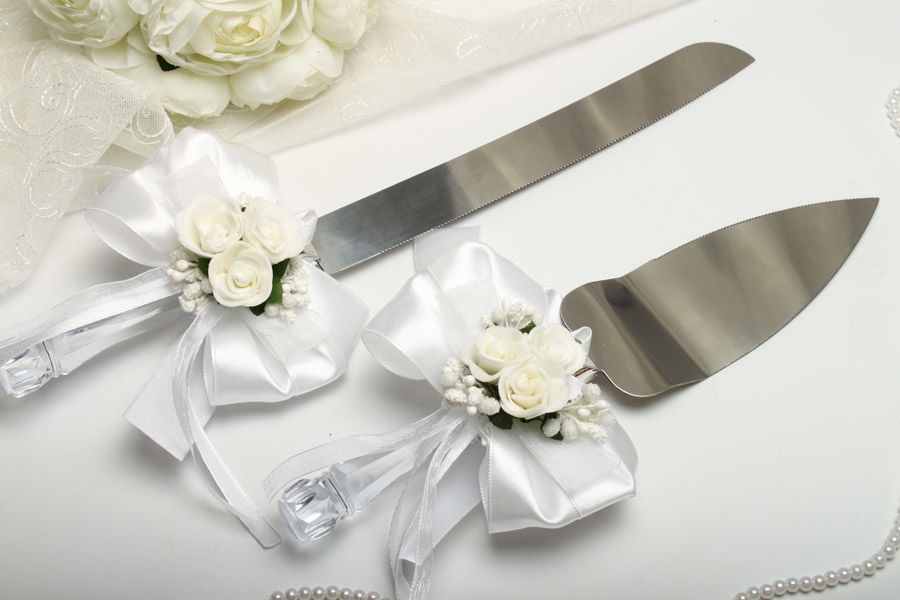 Нож и лопатка Flowers white