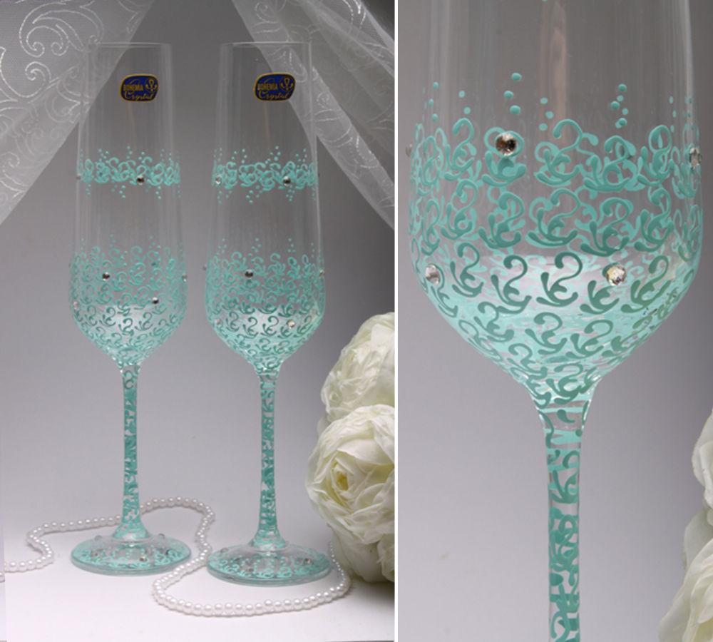 Свадебные бокалы Tiffany
