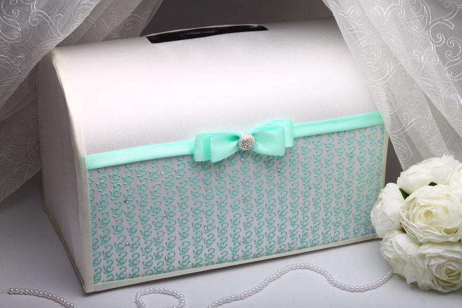 Коробка для денег на свадьбу Tiffany