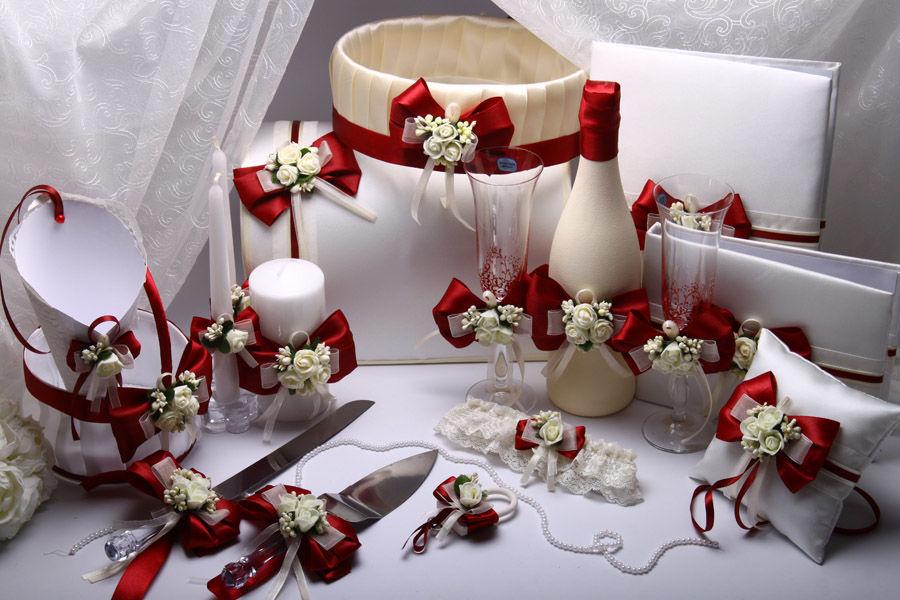 Набор свадебный Flowers bordo