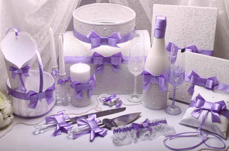Набор свадебный Purple bow