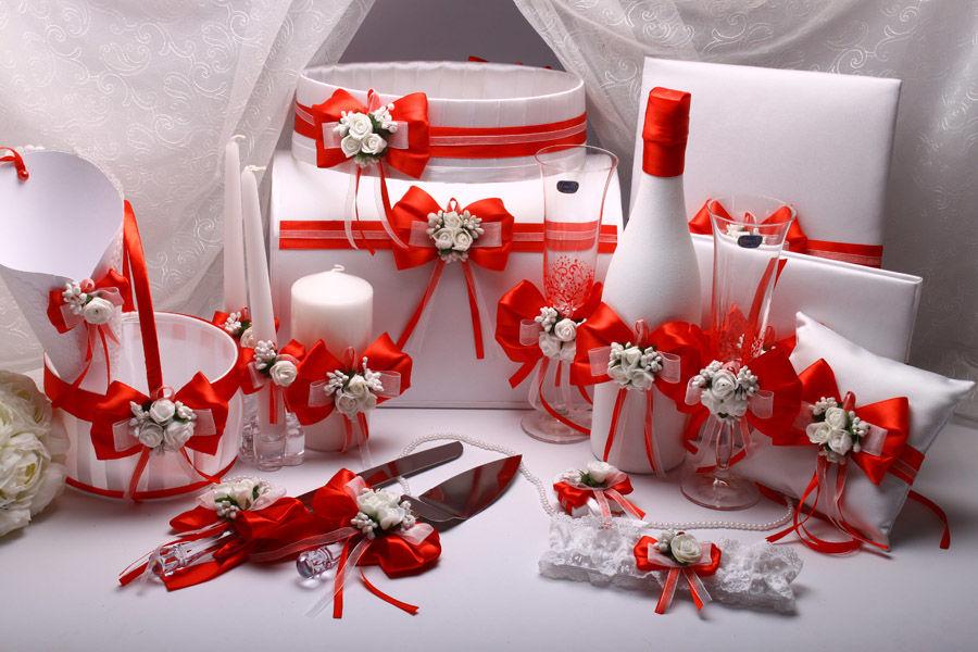 Набор свадебный Flowers red