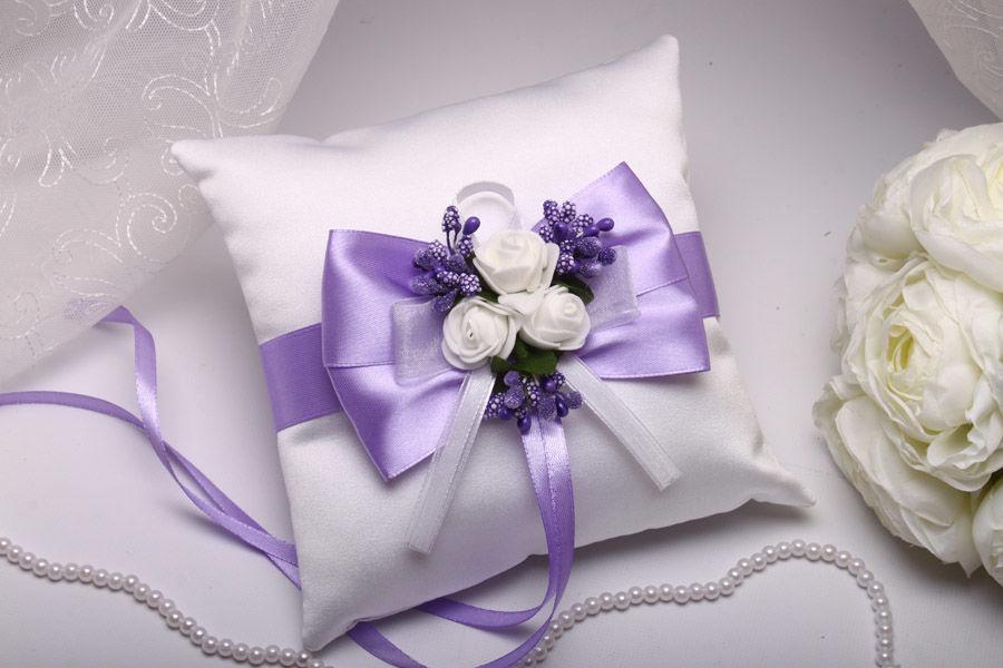 Подушка Flowers purple