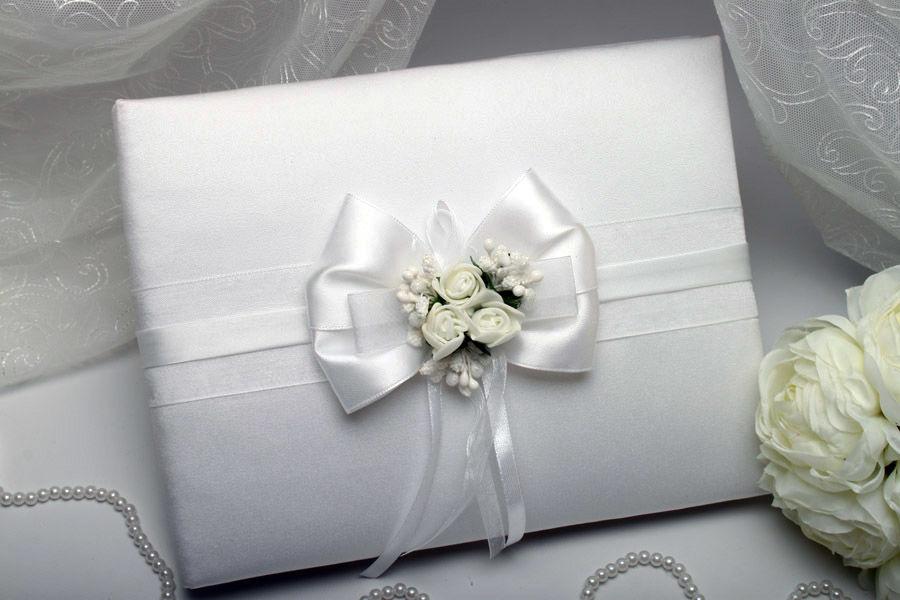 Книга для пожеланий Flowers white