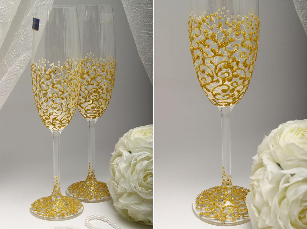 Свадебные бокалы Gold