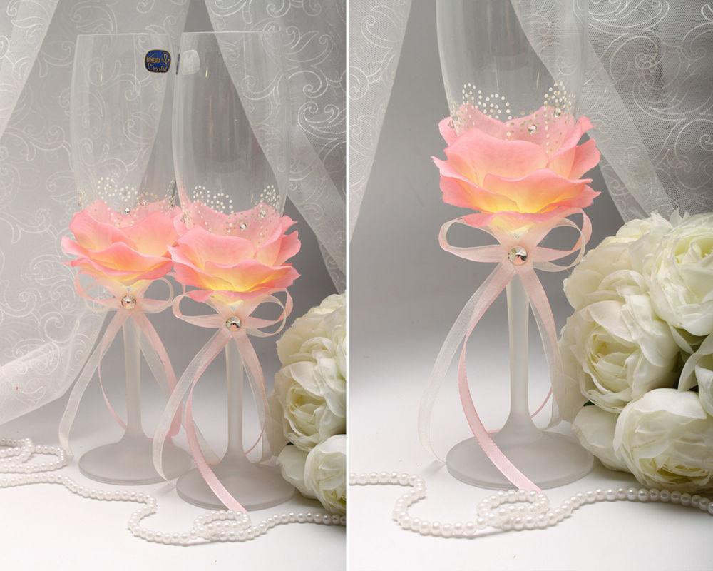 Свадебные бокалы для шампанского Petal pink