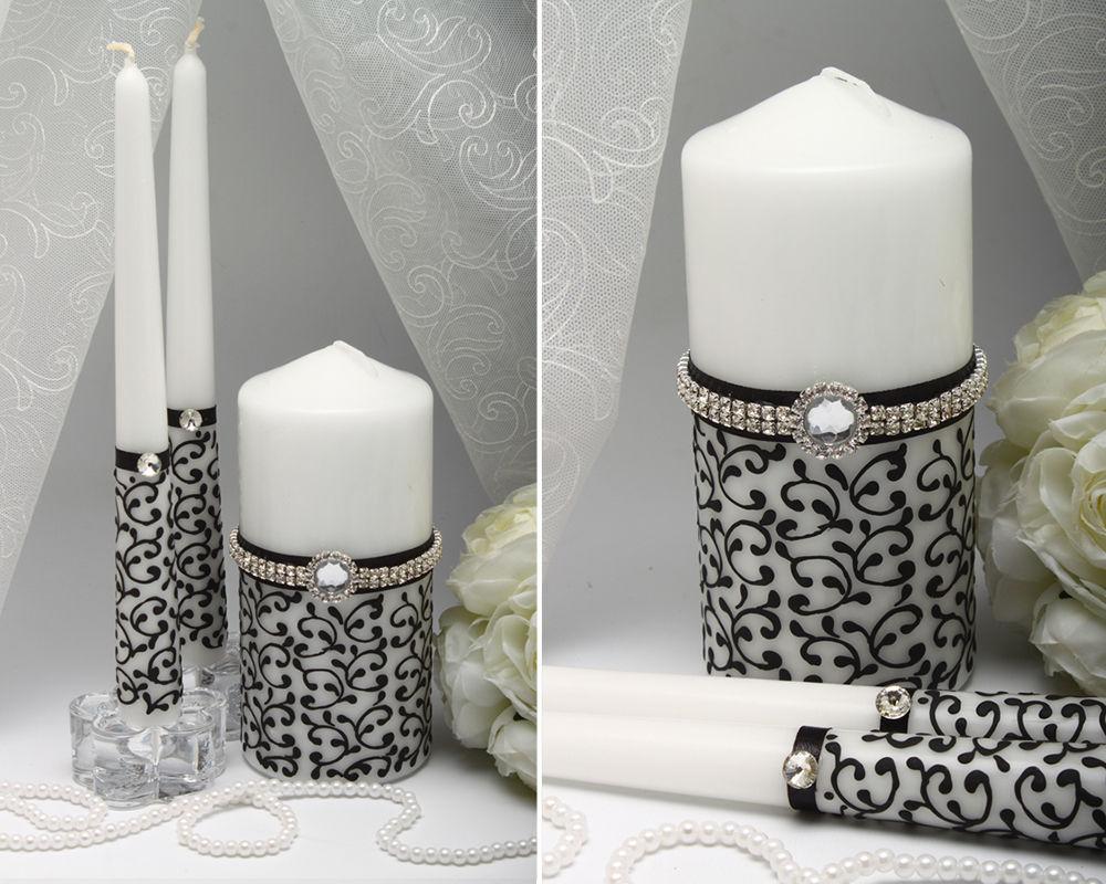 Свадебные свечи Black and white