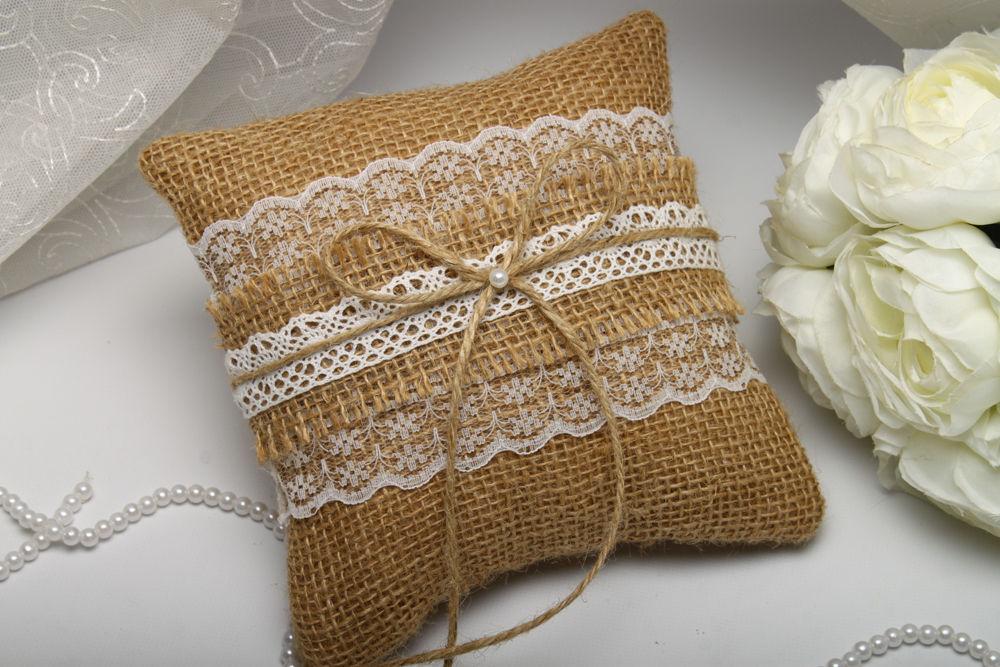 Подушка для колец Burlap