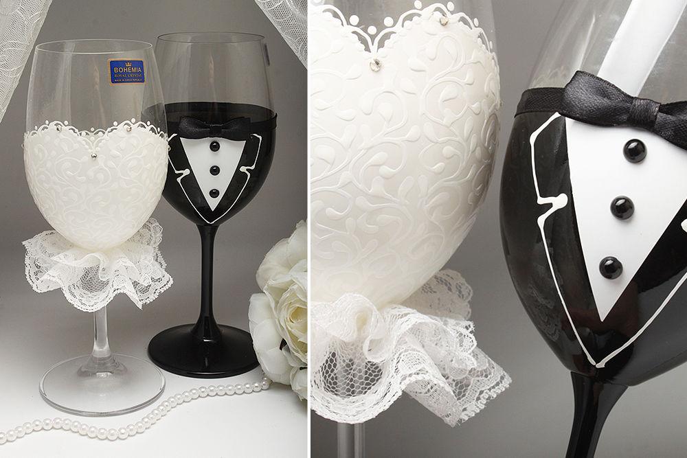 Свадебные бокалы Mrs & Mr