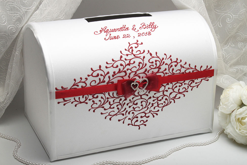 Коробка для денег на свадьбу Два сердца