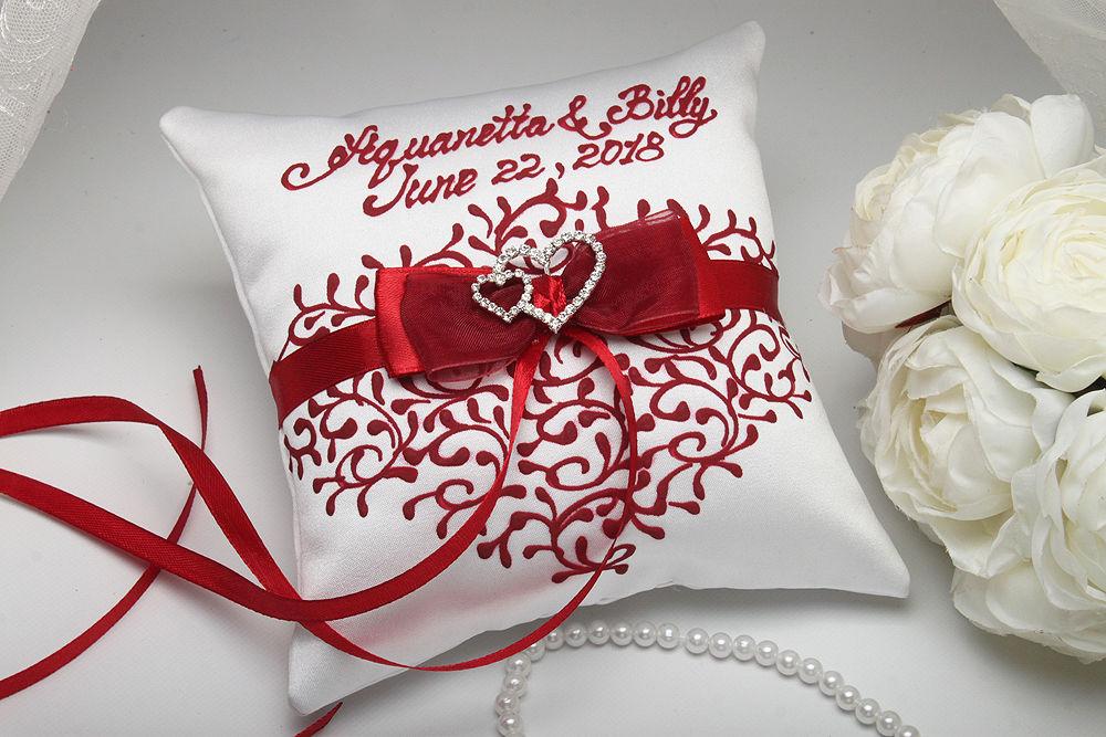 Подушка для колец Два сердца