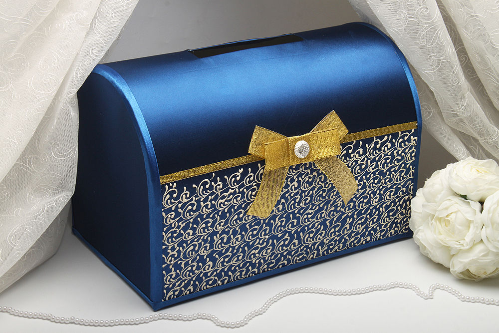 Коробка для денег на свадьбу Blue