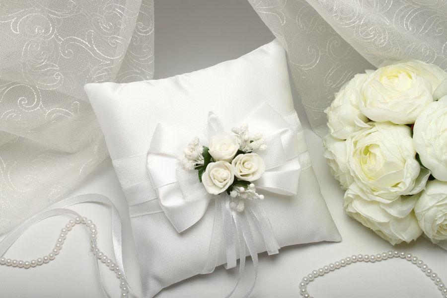 Подушка для колец Flowers white