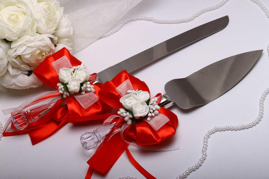 Нож и лопатка Flowers red