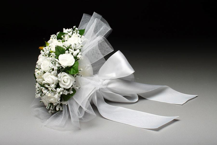 Букет-дублер Білі трояндочки