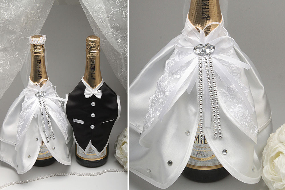 Костюмчики на 2 бутылки шампанского