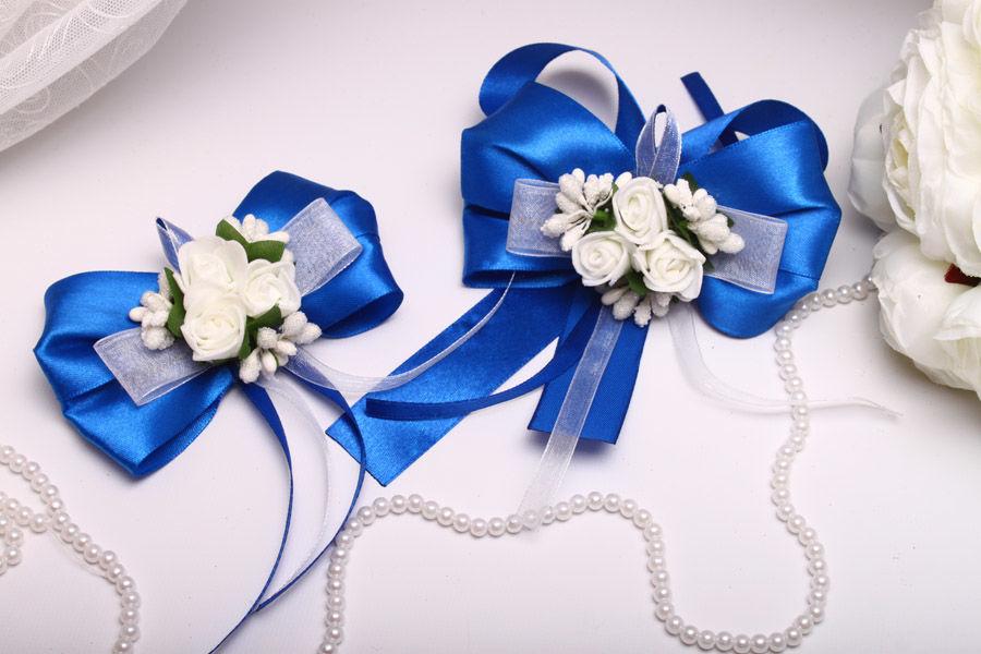 Бутоньерки Flowers blue