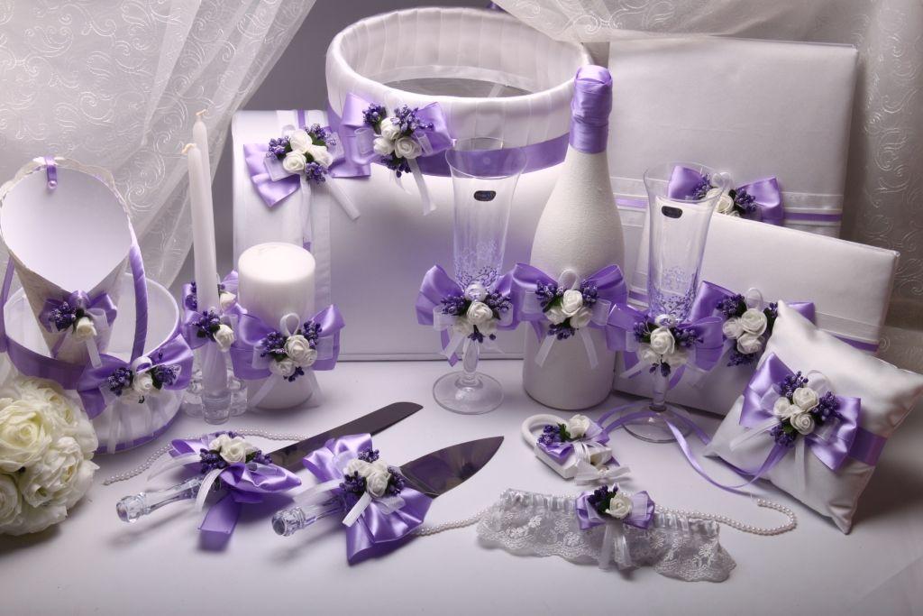 Набор свадебный Flowers purple