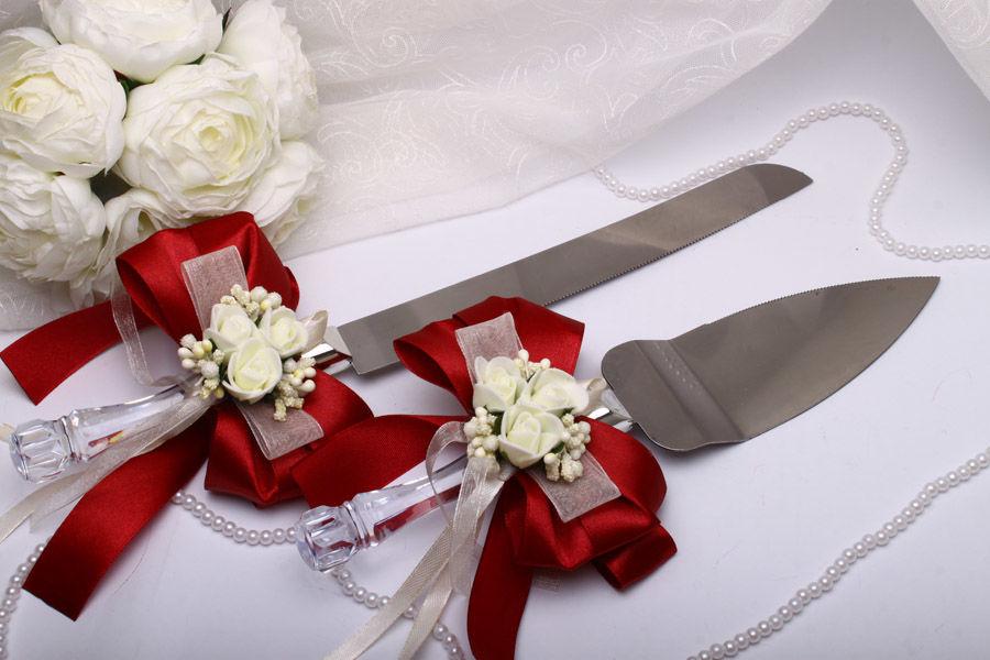 Нож и лопатка Flowers bordo