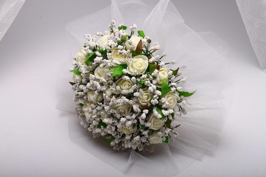 Букет-дублер с айвори розами маленькими