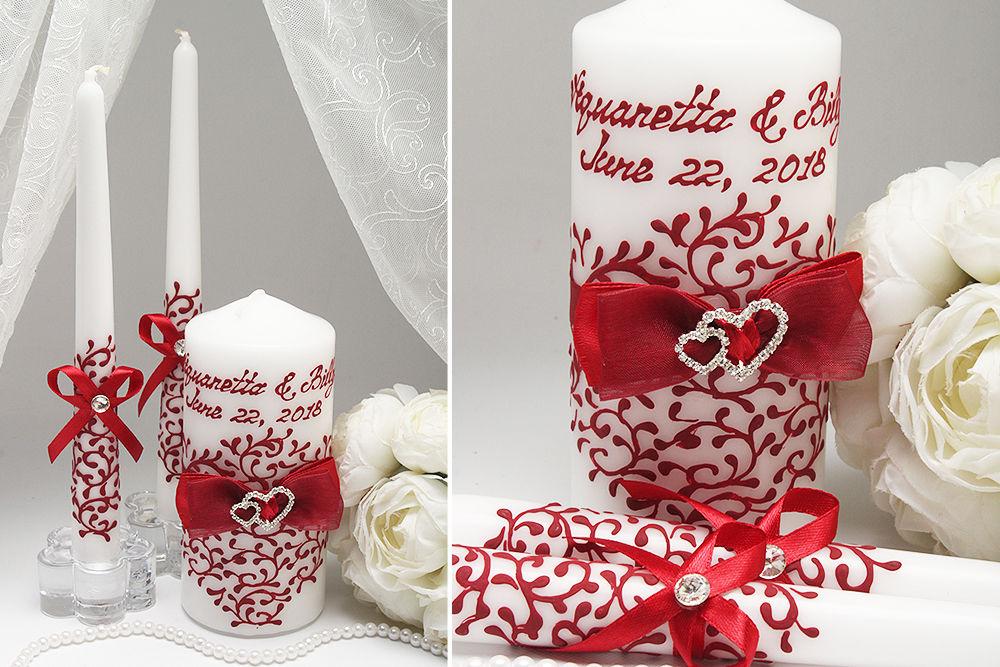 Свадебные свечи Два сердца