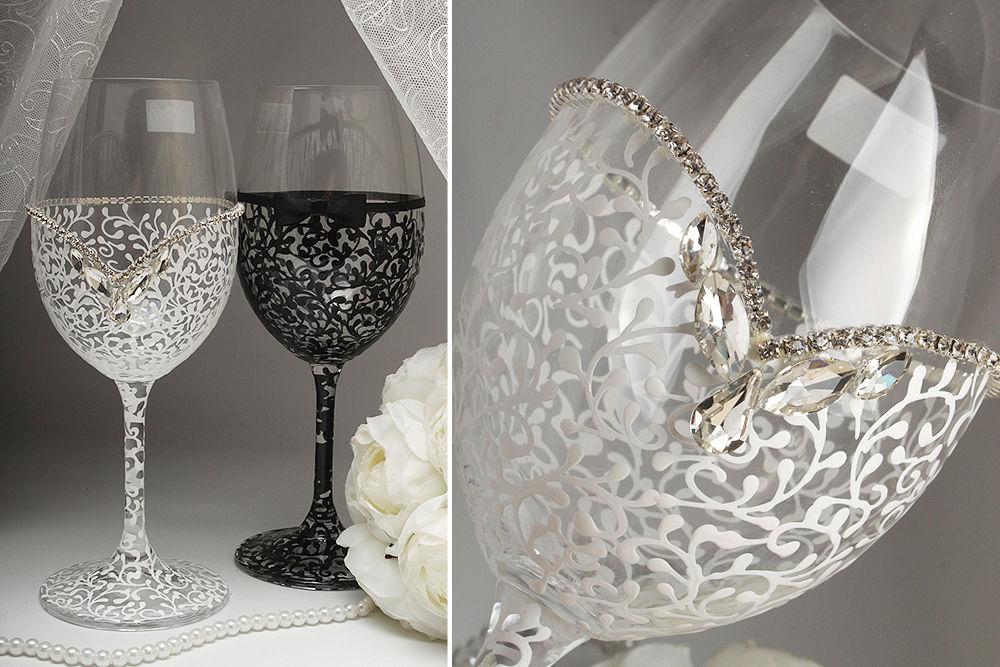 Свадебные бокалы для вина  Жених и Невеста VIP