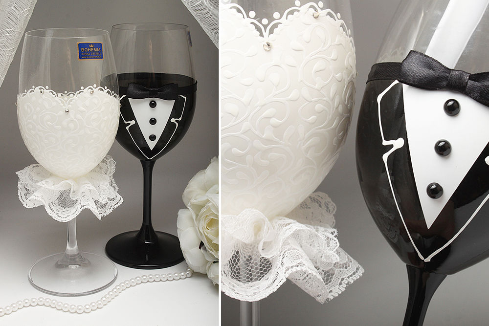 Весільні келихи Mrs & Mr
