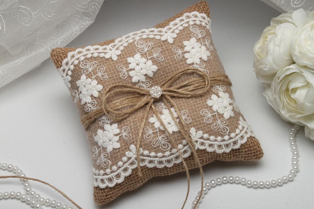 Подушка для колец Шебби шик
