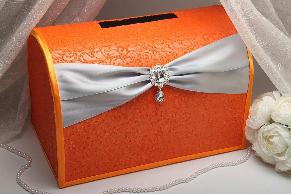 Казна для денег Wings of orange silver