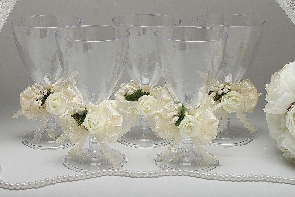 Одноразовые бокалы для вина Auvori Flower