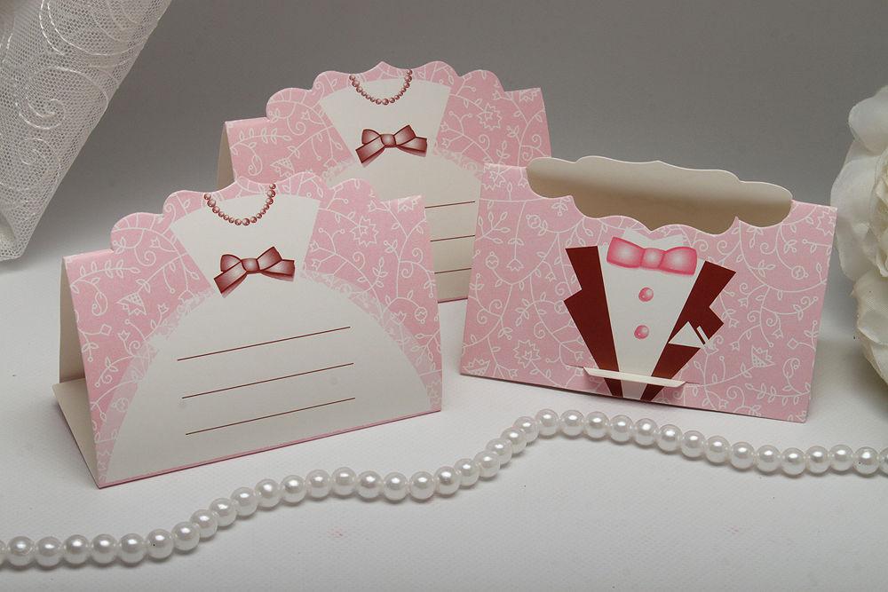 Рассадочные карточки Mr & Mrs Pink