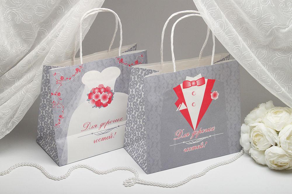 Пакетики для каравая  Жених и Невеста