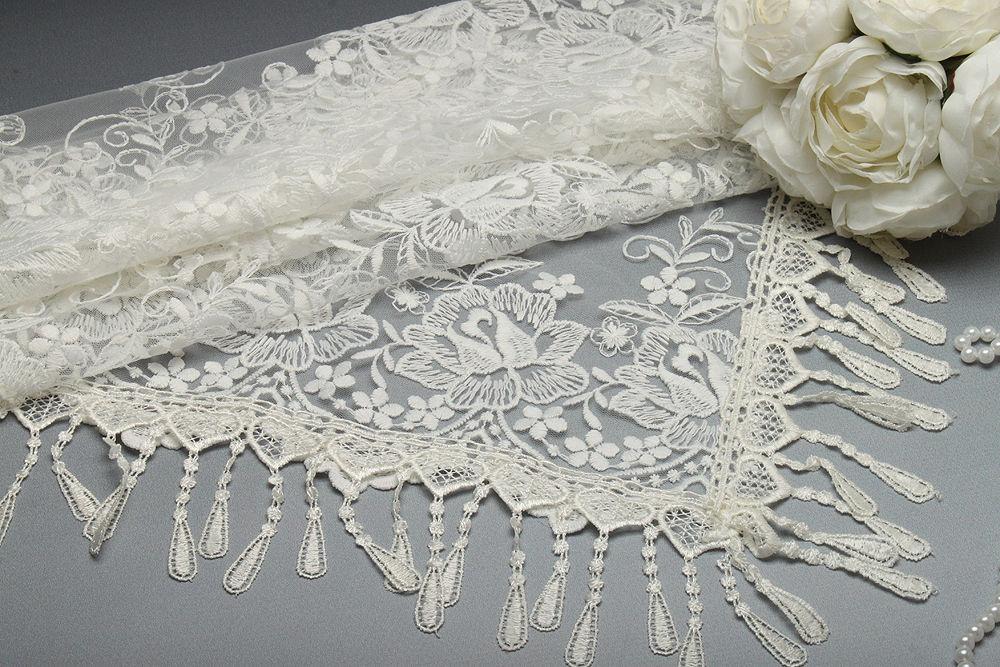 Весільний хустку для нареченої 77х77 см айвори Камелії