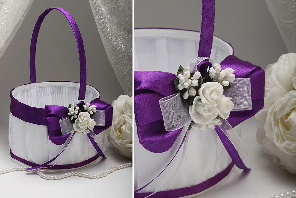 Корзинка для лепестков Flowers dark purple