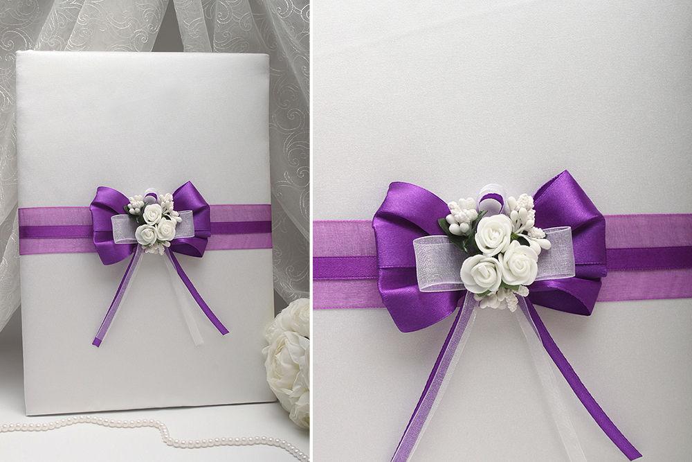 Папка для свидетельства Flowers dark purple