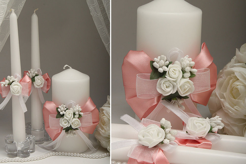 Свадебные свечи Flowers pydra