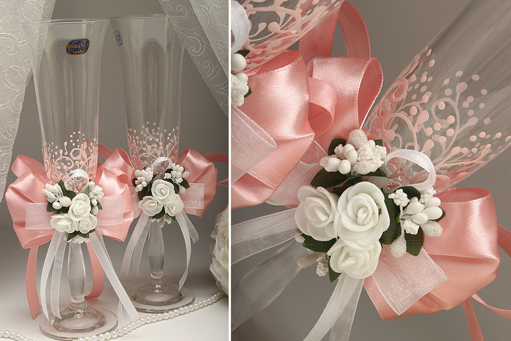 Весільні келихи Flowers pydra