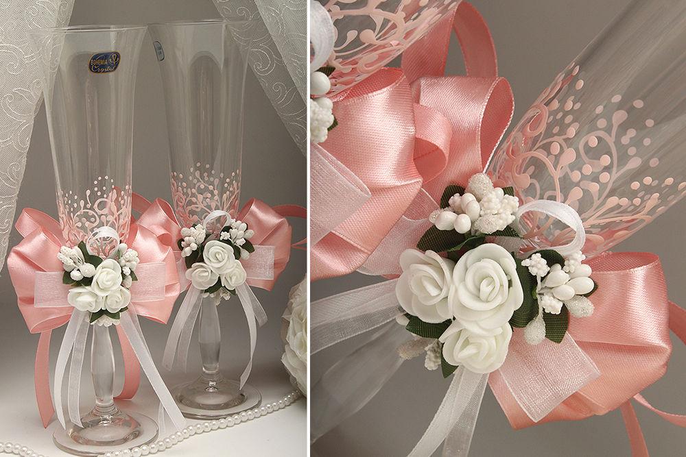 Свадебные бокалы Flowers pydra