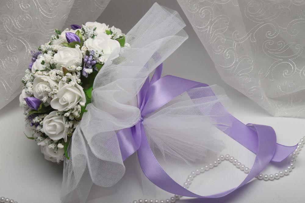 Весільний букет дублер бузковий