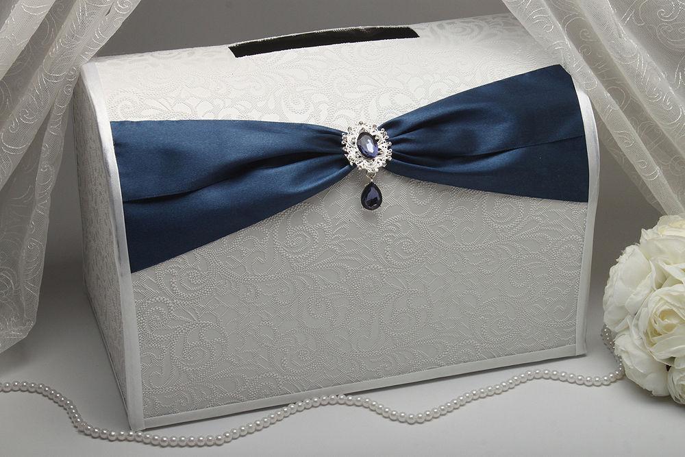 Коробка для денег Gracie dark blue